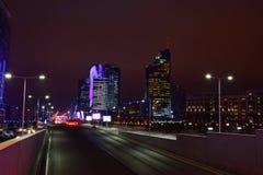 Una vista di notte a Astana immagine stock libera da diritti