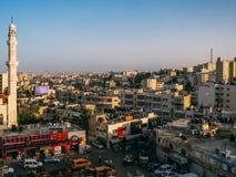 Una vista di occhio dell'uccello di Ramallah Immagini Stock