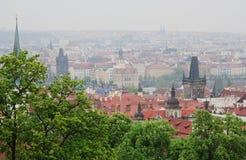 Una vista di Praga Fotografia Stock
