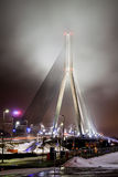 Una vista di sera al ponte di Vansu Fotografie Stock Libere da Diritti