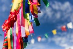 Una vista di tradicional del junina di festa di festival di junina fotografie stock libere da diritti