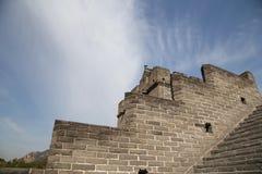 Una vista di una delle sezioni più sceniche della grande muraglia del 'chi' Immagine Stock