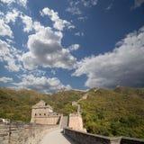 Una vista di una delle sezioni più sceniche della grande muraglia della Cina, a nord di Pechino Fotografia Stock