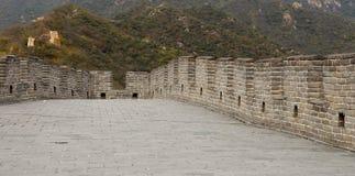 Una vista di una delle sezioni più sceniche della grande muraglia della Cina, a nord di Pechino Immagine Stock Libera da Diritti