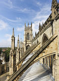 Una vista di York dalla cattedrale di York Fotografie Stock