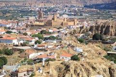 Una vista distante di Guadix, Spagna Fotografie Stock