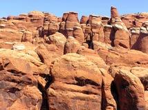 Formaciones de roca en los arcos parque nacional, Utah Imágenes de archivo libres de regalías