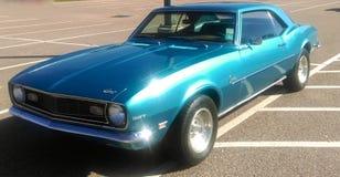 Una vista frontale di 1969 Chevy Camaro antico Immagini Stock Libere da Diritti