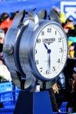 Una vista general del reloj de Longiness durante el eslalom gigante de Audi FIS el Ski World Cup Women alpino foto de archivo libre de regalías