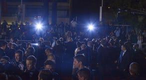 Una vista generale dei festival del DES di Palais dell'atmosfera Fotografie Stock Libere da Diritti