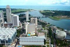 Una vista granangular de la ciudad de Singpore Imágenes de archivo libres de regalías