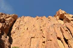 Una vista horizontal del top de las montañas de Sinaí Imagen de archivo libre de regalías