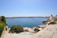 Una vista il grande porto di La Valletta. Fotografia Stock Libera da Diritti