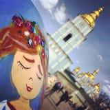 Una vista imponente del arte famoso del huevo de Pascua en Kyiv o Kiev, Ucrania Foto de archivo libre de regalías
