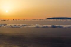 Una vista a La Palma dal Mirador de Alojera in La Gomera Immagine Stock Libera da Diritti