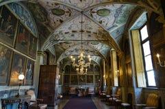 Una vista magnífica del castillo de los interiores suntuosos de MasinoThe foto de archivo libre de regalías