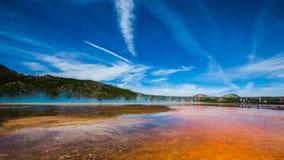 La nebbia porpora nel parco nazionale di yellowstone Fotografie Stock