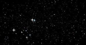 Una vista nella galassia con le stelle commoventi illustrazione vettoriale