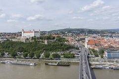 Una vista panorámica de Bratislava Imagen de archivo