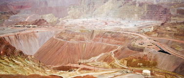 Una vista panoramica della miniera di Morenci Fotografia Stock