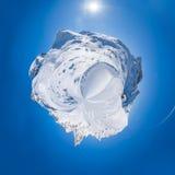 una vista panoramica di 360 gradi delle alpi italiane Fotografie Stock Libere da Diritti