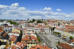 Una vista panoramica di Lisbona immagine stock