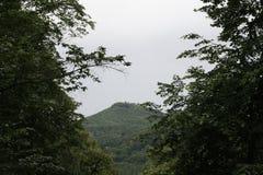 una vista piacevole da lontano alla montagna immagine stock libera da diritti