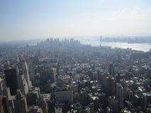 Una vista piacevole dall'Empire State Building fotografia stock