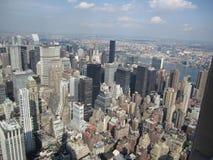 Una vista piacevole dall'Empire State Building fotografie stock