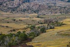 Una vista scenica bella del Wyoming immagine stock libera da diritti
