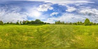 Una vista senza cuciture sferica di panorama di 360 gradi in equirectangula Fotografia Stock