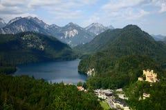 Una vista su Hohenschwangau Immagine Stock