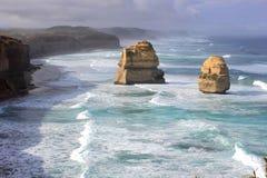 Una vista sul mare dei dodici apostoli Immagini Stock