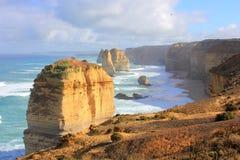 Una vista sul mare dei dodici apostoli Immagini Stock Libere da Diritti