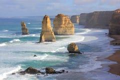 Una vista sul mare dei dodici apostoli Fotografie Stock