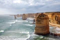 Una vista sul mare dei dodici apostoli Fotografie Stock Libere da Diritti