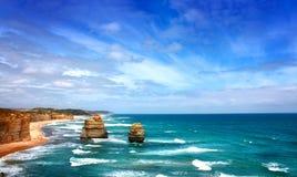 Una vista sul mare di dodici apostoli, Australia Immagini Stock Libere da Diritti