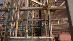 Una vista superiore della pianta industriale del sito Immagine Stock