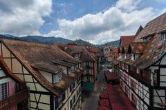 Una vista superiore di Colmar Tropicale. Immagine Stock Libera da Diritti