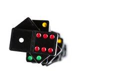 Cima della pila di domino Immagini Stock