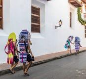 Una vista típica de Cartagena Colombia imágenes de archivo libres de regalías