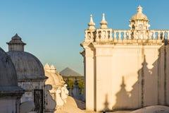 Una vista tipica in Leon Nicaragua immagine stock