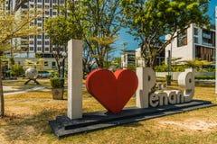 Una vista tipica nella citt? di George in Malesia fotografie stock