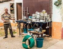 Una vista tipica in Trinidad in Cuba fotografie stock