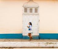 Una vista tipica in Trinidad in Cuba immagini stock