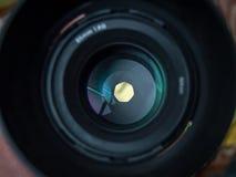 Una vista tramite la lente Immagini Stock
