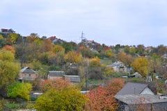 Una vista vicina dell'alloggiamento di riga del mattone Fotografia Stock Libera da Diritti