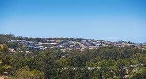 Una vista vicina dell'alloggiamento di riga del mattone Fotografia Stock