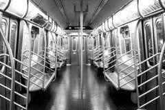 Una vista vuota di una metropolitana di NYC Fotografia Stock