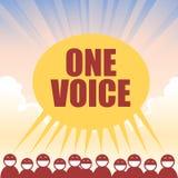 Una voz Fotos de archivo libres de regalías